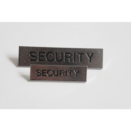 """SECURITY"" Large BAR BADGE"