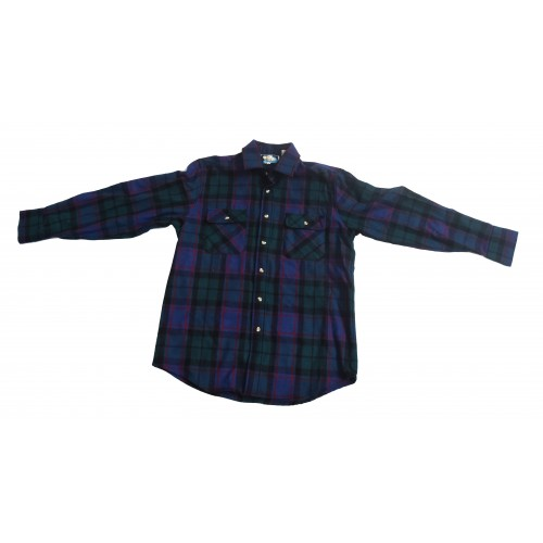 WOOL CHECK LONG SLEEVE SHIRT