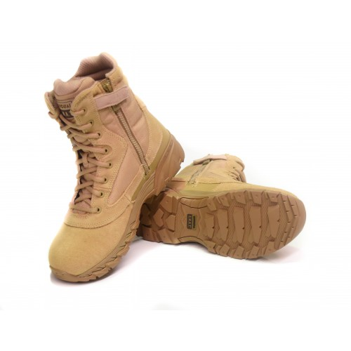 "SWAT 9"" CHASE Suede Tan w/Side Zip"