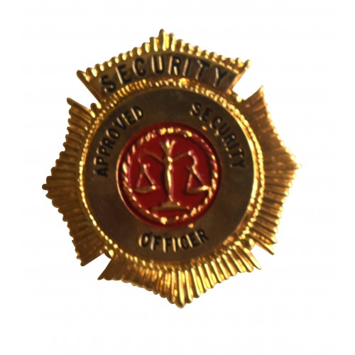 SECURITY SHIELD BADGE