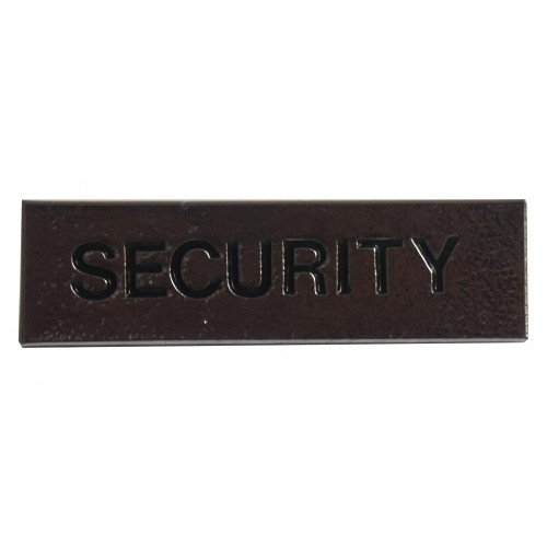 """SECURITY"" Small BAR BADGE"